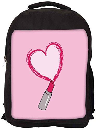 Snoogg Lipstick Love Laptop Rucksack Gelegenheitsschulrucksack
