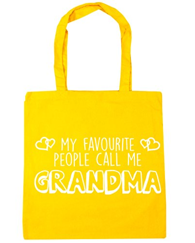 Bag People Tote Yellow Beach 42cm Shopping Favourite My Grandma 10 x38cm Call litres Gym Me HippoWarehouse wqCvpB1n