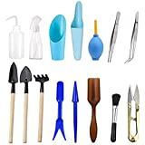 buy Wesdxc 15 Pieces Succulent Plants Tools, Mini Garden Hand Tools Transplanting Tools Miniature Planting Gardening Tool Set for Indoor Miniature Fairy Garden Plant Care now, new 2019-2018 bestseller, review and Photo, best price $10.19