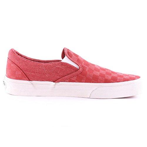 Vans  Vzmrfj5, Herren Sneaker Rosso (Red Check/White)