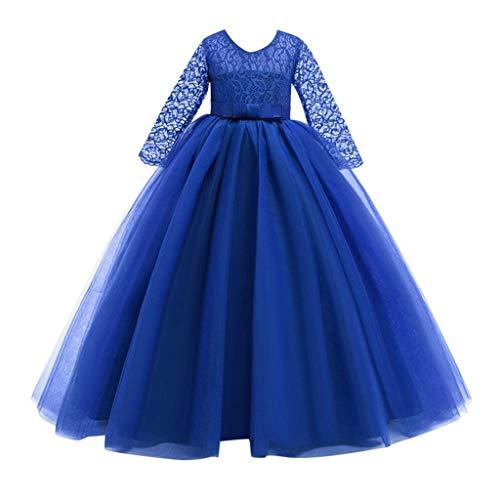 WEXCV Prinsessenjurk voor babymeisjes, kant borduurwerk, tutu, mesh, feestelijke jurk, bruiloft, dansfeest, feestjurk…