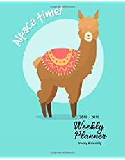 """2018-2019 Weekly Planner: Alpaca Inspirational Quotes Weekly Daily 16 Monthly   Planner 2018-2019 8 x 10""""  Calendar Schedule   Organizer"""