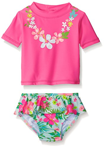 Carter 39 s baby girls 39 short sleeve lei rash guard set with for Baby rash guard shirt