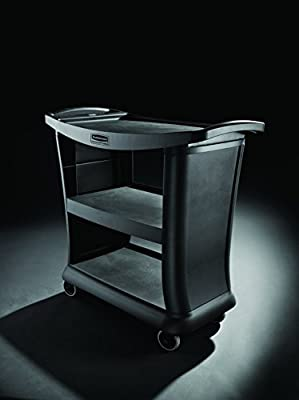 Rubbermaid Commercial Products 3-Shelf Service/Utility Carts, Closed Ends