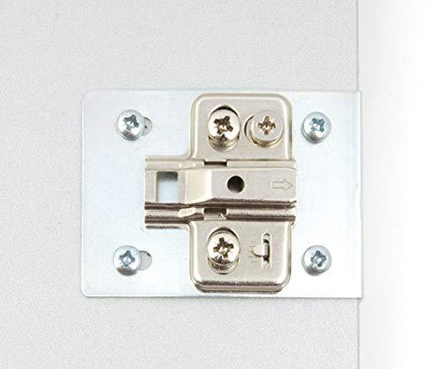 color plateado incluye 2 placas y tornillos de fijaci/ón Kit de reparaci/ón para puerta de armario de cocina