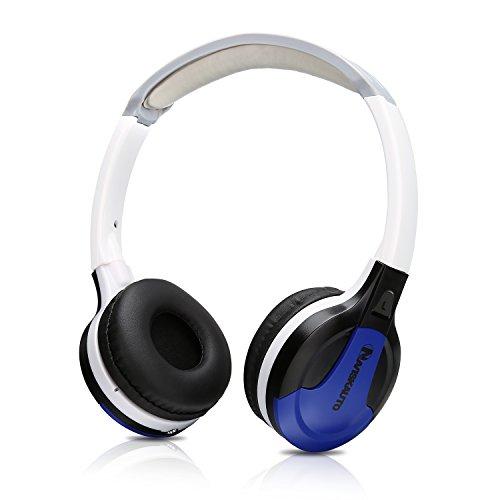 NAVISKAUTO On-ear Headphone Headset Over-Ear Headphones 3.5mm with Volume Control and Built-in IR Receiver -Blue