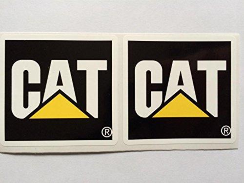 2 Caterpillar Square Die Cut Decals