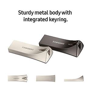Samsung BAR Plus 256GB - 300MB/s USB 3.1 Flash Drive Titan Gray (MUF-256BE4/AM)