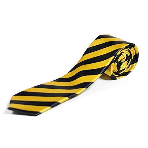 Negro y amarillo de pelo fino de diseño a rayas de cordones para ...
