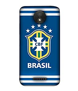 ColorKing Football Brazil 23 Blue shell case cover for Motorola Moto C Plus