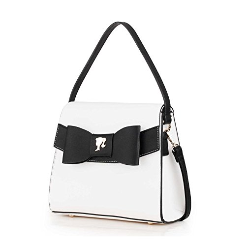 Bowknot for PU Ladies Leather Modern Fashion use Dual Bag Contrast Series Women Barbie Handbag Color Crossbody Trapezoid BBFB540 ZBCY8fq8wx