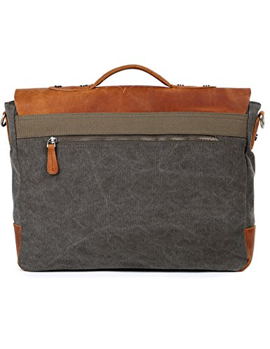 Verde Pacchetto Spalla Casual Canvas Daypack Caffè Dell'imbracatura Menschwear Bags Vintage Messenger qyvZS