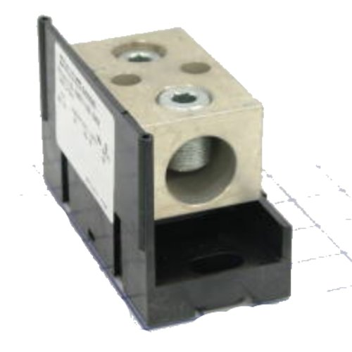 4-14 Wire Size 90 Ampere 63161 Mersen 63000 Aluminum Open Style Mini Box to Box Power Distribution Block with 1-Pole and 4 Stud