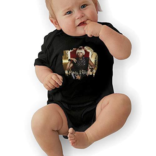 JosephG Newborn Baby Mary J Blige Strength of A Woman Bodysuit Outfits Black 18M -