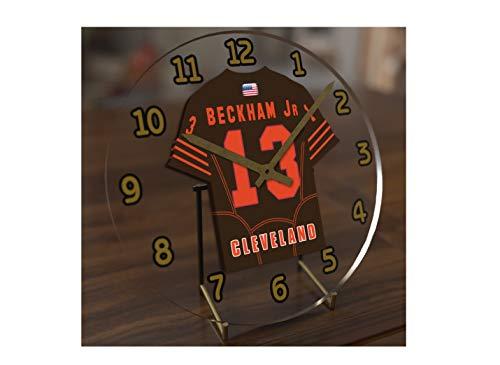 FanPlastic Odell Beckham Jr. 13 Cleveland Browns Desktop Clock - National Football League Legends Edition !!