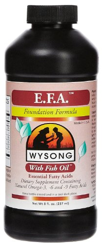 WYSONG PET NUTRITIONAL PRODUCTS 858382 EFA Supplement with Fish Oil for Dogs, 8-Ounce