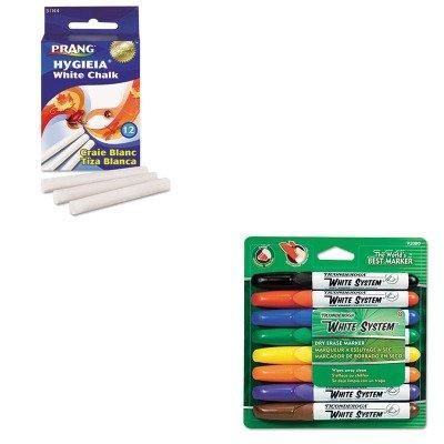 (KITDIX31144DIX92080 - Value Kit - Prang Hygieia Dustless Board Chalk (DIX31144) and Ticonderoga White System Dry Erase Marker (DIX92080))