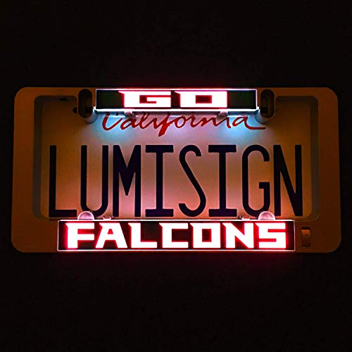 LumiSign - The Auto Illuminated License Plate Frame | Lights Up While You Brake | Installs in Seconds | No Wires, Battery Operated | Interchangeable Inserts