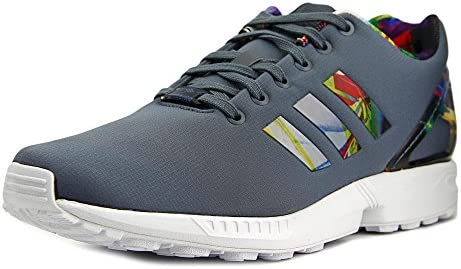 adidas Originals Mens ZX Flux Running Shoes Light Onyx Grey Red AF6324