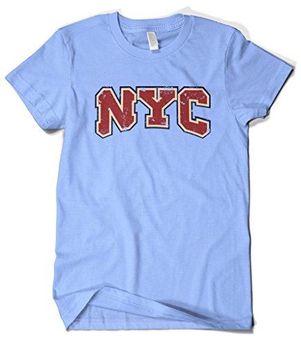 Cybertela Men's New York City NYC T-Shirt (Light Blue, - One Carmelo Light
