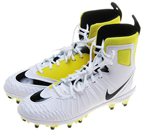 Nike Men's Force Savage Varsity Football Cleats (White/Yellow, 10 D(M) US)