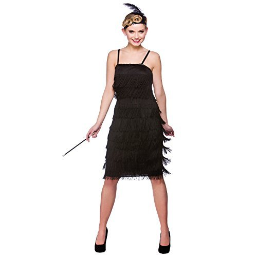 (S) Ladies Jazzy Flapper Costume for 20s 30s Gangsters Molls Fancy Dress Womens by Wicked Wicked (30s Gangster Costume)