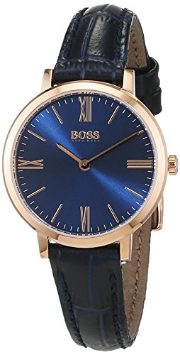 Hugo Boss Women's 1502392 Blue Leather Quartz Watch