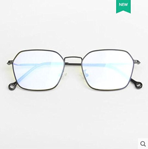 cara radiaciones gafas redonda las gafas azul KOMNY cristalino espejo contra ilimitado azul la Gafas contra plano luz Gafas B b número de espejo anti macho hembra AqZtaZ