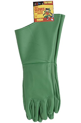 Rubie's Costume Co Men's Teen Titans Robin Adult Gloves, Green, One (Robin Adult Gloves)