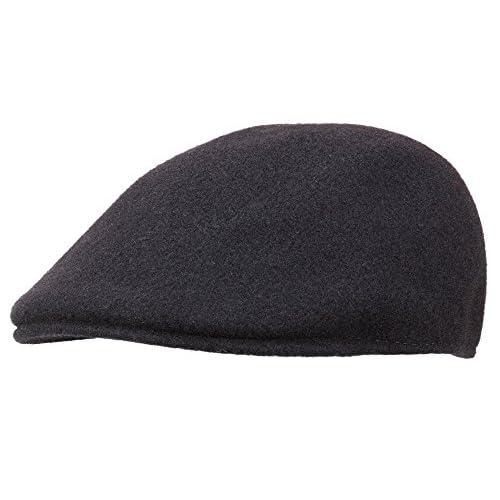 Kangol Seamless Wool 507 - Gorra plana para hombre - negro Barato ... a8a1981b4b3