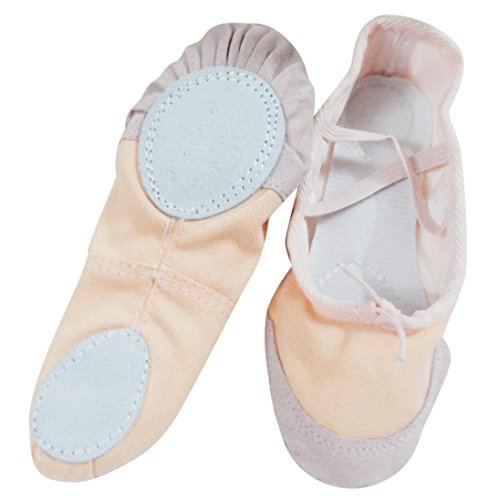 hunpta Adult Gymnastics Slippers Ballet Pointe Canvas Beige Shoes Shoes Dance Dance rxqwrg4