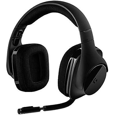 Logitech G533 Gaming Headset  Wireless DTS 7 1 Surround Sound  Black