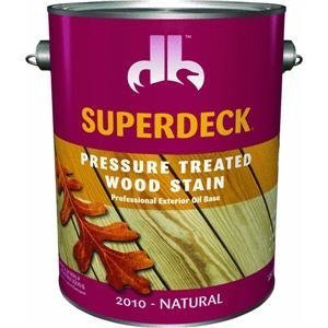 (Duckback Prod. DB2010-4 Superdeck Transparent Stain For Pressure Treated Wood)