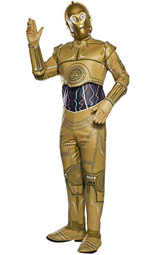 (Rubie's Costume Co Unisex-Adult's Standard Star Wars Classic C-3PO Costume, As Shown,)