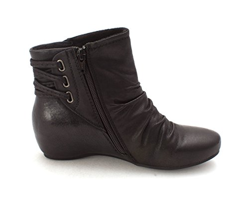 Sesame Boots Black Womens Traps Closed Toe Bare Fashion Ankle EUn4aq8n0w