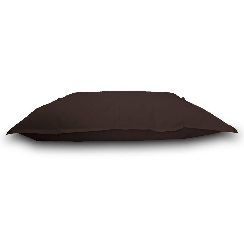 Pufmania Sitzsack Beanbag Doppelbett Polyester Wasserdicht für Außen 130 x 100 cm SchwarzKaffeebraun