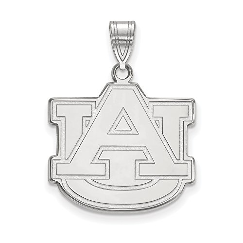 Auburn Large (3/4 Inch) Pendant (14k White Gold) by LogoArt