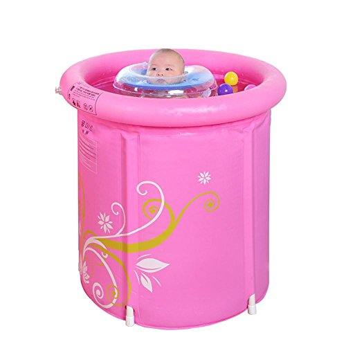 TOYM US Infinity Baby Swimming Pool Inflatable Swimming Pool Adult Folding Tub ( Size : 6570cm ) by Folding Bathtub