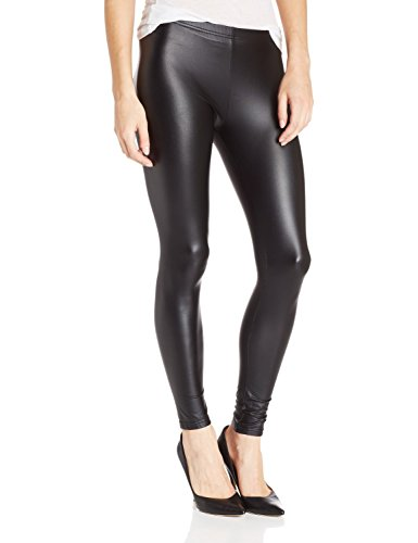 TAGOO Black Stretchy Shiny Leggings Tights for Women&Gilrs, Slim Fit Pants for Yogo&Workout (M fits waist 23