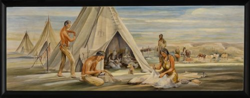 Plains Indians (Mural Study) -