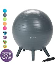 Gaiam Kids Stay-N-Play Children's Inflatable Balance Ball Desk Chair With Stability Legs - Flexible Classroom Seating