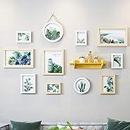 GJNVBDZSF Molduras para foto, vários conjuntos de 11 quadros de fotos para família, moldura de madeira com pra