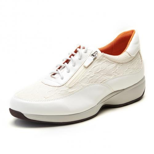 Kanana project (サイズ:23.5cm) カナナプロジェクト ウォーキングシューズ KN3110-002 あるく ホワイト レースアップ ミドルヒール スニーカー レディース 靴 お取り寄せ商品