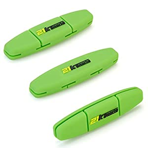 Tennis Vibration Dampener- Set of 3-Tennis Shock Absorber For Strings- Best For Tennis Racket, Premium- Durable & Long-Lasting- Great For Tennis Players (Green)