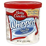 Betty Crocker, Whipped Vanilla Frosting, 12oz Tub (Pack of 3)