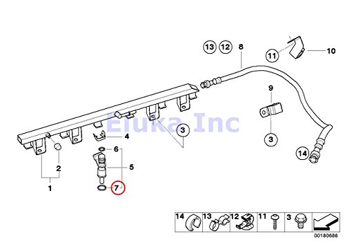 bmw x5 fuel injector replacement