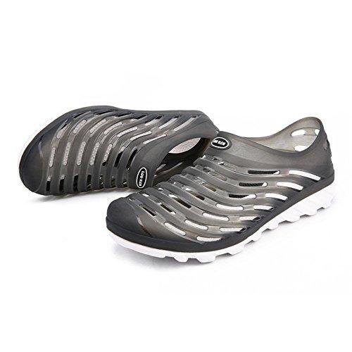 Per Camminare e da 44 Sandali Sandali Hollow shoes Uomo Scarpe Xujw Color Viaggiare l'estate Nero da Dimensione Vamp Walking uomo ginnastica Blu Zoccoli EU Donna Outdoor Spiaggia 2018 HOPTY