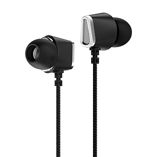 VEENAX M1 Stereo In Ear Headphones, Music Earphones with Mic, Sport Earbuds with Deep Bass, Wired Headset for iPhone iPad iPod Apple Samsung LG HTC PC Tablet MP3 iOS Android Phone, 3.5mm Jack Black by VEENAX