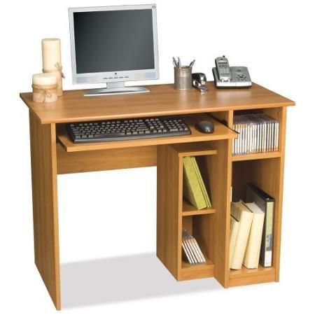 Bestar Basic Computer Desk-Cappuccino - Cherry Cappuccino Bestar