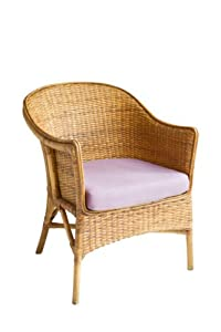 IRA Vintage Boho Peacock Lovehearts Wicker Rattan Chair (Brown)